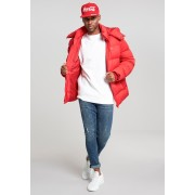 Hooded Boxy Puffer Jacket fire red XXL