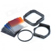 SHSYKJ07 10-in-1 Filtros graduales Lens + ND + lente 82mm Anillo Set para lente de camara de 82mm - Negro
