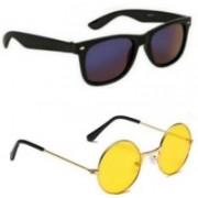 alience Wayfarer, Round Sunglasses(Black, Yellow)