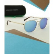 United Colors of Benetton Aviator Sunglasses(Blue)