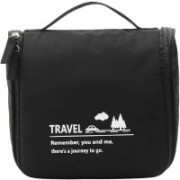 Shree Shyam Products Multi Functional Travel Organizer Accessory Toiletry Cosmetics Bag Makeup Or Shaving Kit Pouch for Men & Women Set Of 1 Pcs Travel Toiletry Kit(Black)