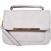 Lino Perros Women Grey Leatherette Sling Bag