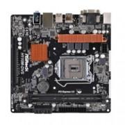 Дънна платка ASRock H110M-DVS R3.0, H110, LGA1151, DDR4, PCI-E (DVI&VGA), 4x SATA 6Gb/s, 2x USB 3.0, micro ATX