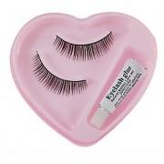 combo ADS Eye Care Long Lasting Waterproof Extra Black Kajal 12Hr - 3 pcs Assorted False Eyelash With Gum set of 1