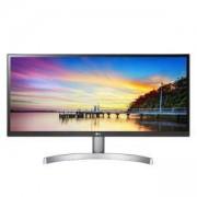 Монитор LG 29 инча, LG 29WK600-W, UltraWide Full HD IPS LED,Anti-Glare 3H, 2560 x 1080, 21:9, 300cd/m2, 8bits, 16.7M, 5ms, Сребрист