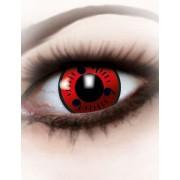 Vegaoo Rode contactlenzen voor volwassenen One Size