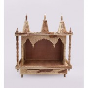 Shilpi Brown Sheesham Wood Exquisite Temple / Mandir / Puja Esstential / Wooden Mandir - (NSHC0199)