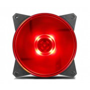 Cooler Master Masterfan Lite Mf120l Red Led; Silent; Balanced Air Flow And Air Pressure (r4-c1ds-12fr-r1)