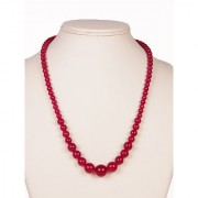 The Haat Onyx Stone Necklace (Red)