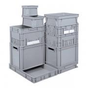 Certeo Euro-Stapelbehälter - Inhalt 16 l, LxBxH 400 x 300 x 175 mm, PP - grau, ab 10 Stk