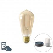 Calex Inteligentna żarówka LED E27 ST64 7W 806lm 1800-3600K aplikacja ściemnialna