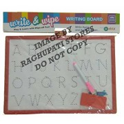 Write and Wipe Writing Board 2 in 1 Slate Kids Educational White Board for Playing, Drawing & Learning Learn Alphabet