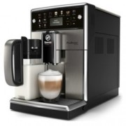 Автоматична еспресо машина Philips Saeco PicoBaristo Deluxe SM5573/10, 12 напитки, 1,8л резервоар, вградена първокласна кана за мляко, 12-степенна регулируема мелачка, черна