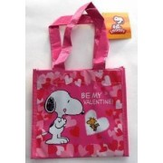 Peanuts Snoopy & Woodstock Small Tote Bag Be My Valentine