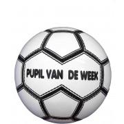 KWD Pupil van de week Voetbal - Wit/zwart - Maat 5