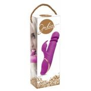 Jülie - akkus, fel-le mozgó forgó gyöngyös vibrátor (lila)