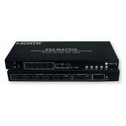 Switch Matrix HDMI 6x2 4K UHD 3D con MHL