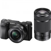 Sony Alpha 6100 Y/B Mirrorless Camera w/ 16-50mm and 55-210mm Lenses