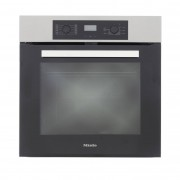 Miele H2267BP CleanSteel Single Built In Electric Oven - Black
