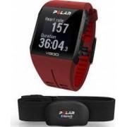 Smartband Polar V800 GPS Rosu + Senzor HR Polar H7