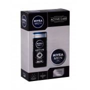 Nivea Men Active Clean 250Ml Shower Gel 250 Ml + Men Creme 75 Ml Per Uomo
