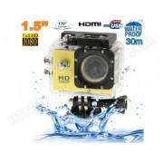 YONIS Caméra sport étanche 30m caméra action Full HD 1080p 12MP Jaune