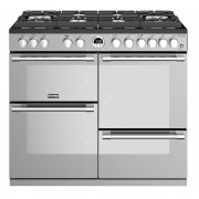 Stoves Sterling Deluxe S1000DFGTG Stainless Steel 100cm Dual Fuel Range Cooker