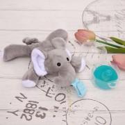 Titulares De Chupetes De Seguridad Separada Muñeca Suave Animal Para Bebés-Elefantes