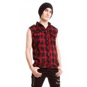 Koszula bez rękawów w kratę DIABLO