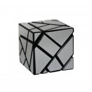 3x3 Ghost Cube - Negro Cuerpo + Engomada De Plata