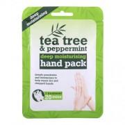 Xpel Tea Tree Tea Tree & Peppermint Deep Moisturising Hand Pack хидратиращи ръкавици 1 бр за жени