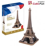 Puzzle 3D Cubic Fun - France, Paris: Eiffel Tower, 82 piese (Cubic-Fun-MC091H)