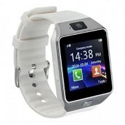 DZ09 смарт часовник със слот за сим карта - бял
