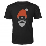 Cool Santa Christmas T-Shirt - Black - L - Black