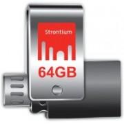 Strontium Nitro Plus 64 GB Pen Drive(Silver)