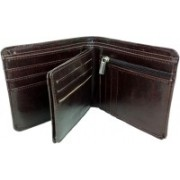 HALO NATION Men Brown Artificial Leather Wallet(9 Card Slots)