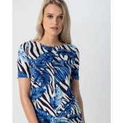 Helena Vera Shirt mit Animal-Tropical-Druck royal female 36