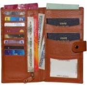 Kan Tan Premium Quality Leather Travel Organizer/Passport Holder For Men and Women(Tan)