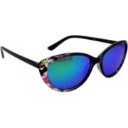 Els Cat-eye Sunglasses(Blue, Green)