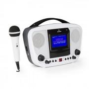 KaraBanga Karaokeanlage Mikrofon TFT-Farbdisplay 4,3'' Bluetooth weiß