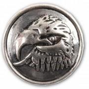 Merkloos Zilveren chunk met arendskop 1,8 cm