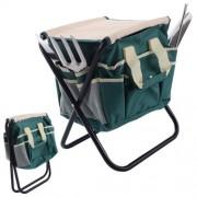 Garden Tool Bag Set Tools Gardening Folding Stool Stainless Steel 7 PCS - USA_Mall