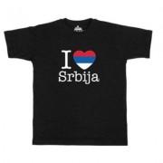 geschenkidee.ch Ländershirt Serbien, Schwarz, XL, Mann