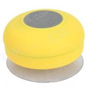 BTS-06 portatil recargable de agua resistente Bluetooth altavoz w / microfono - amarillo