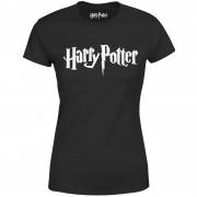 Harry Potter Camiseta Harry Potter Logo - Mujer - Negro - S - Negro