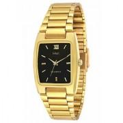 KDS Ractengle Gold Plated Men's Quartz Watch-Black