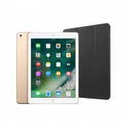 "Apple iPad 9.7"" (2018) 32GB Wifi with Folding Case (Black) - Gold"