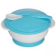 Детски комплект за хранене - Купа с лъжица Lorelli, с вакуумно дъно, асортимент, 0746929