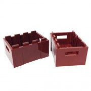 Lego Parts: Container Crate with Handholds (Reddish Brown)