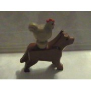 Lego Brown Dog and Chicken Animal Minifigure Set (Loose)